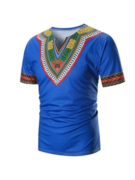 Dashiki Color Block Men's T-shirt