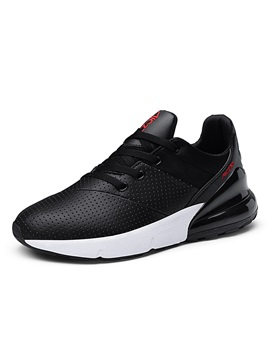 Low-Cut Upper Sports Lace-Up Round Toe Men's Sneakers