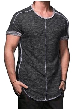 Round Neck Plain Casual Slim Men's T-Shirt