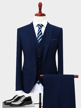 Formal 3 Pieces Blazer Vest Pants Men's Dress Suit