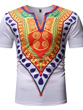 African Fashion Dashiki Color Block Men's T-Shirt