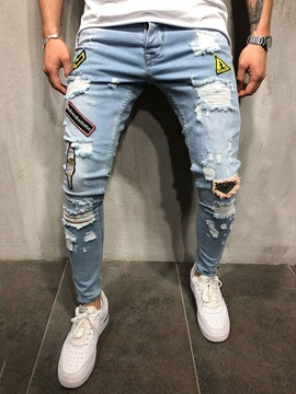 Hole Worn Fashion Men's Ripped Jeans