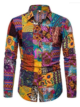 Ethnic Floral Print Men's Shirt