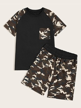 Camouflage T-Shirt Shorts Sports Summer Men's Outfit