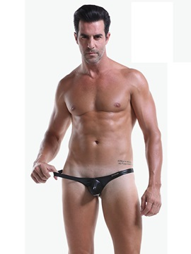 Low Waist U Convex Sexy Leather Men's Thong