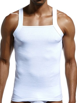 Plain Slim Pullover Sweat Absorbent Men's Vest