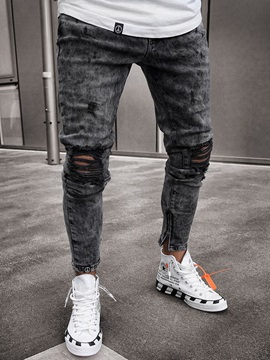 Worn Hole Fashion Men's Jeans