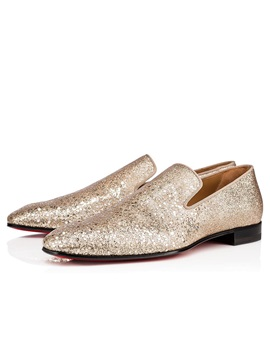 Glitter Low-Cut Upper Slip-On Pointed Toe Men's Prom Shoes