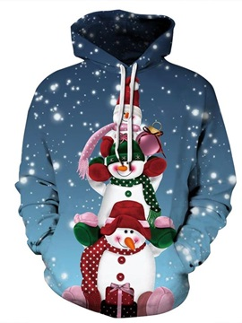 3D Cartoon Pullover Men's Hoodies