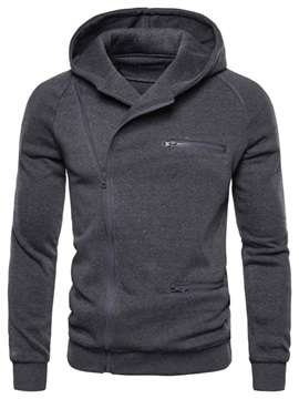 Plain Zipper Cardigan Men's Hoodies