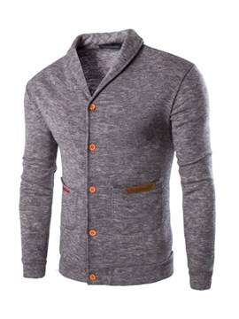 Embroidery Color Block Standard Slim Men's Sweater