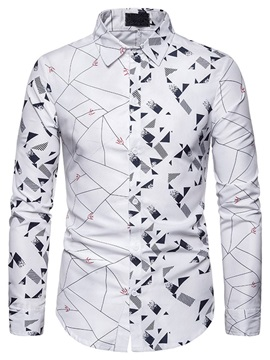 Color Block Button Single-Breasted Casual Men's Shirt