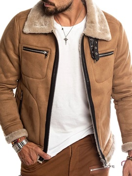 Patchwork Lapel Men's Jacket