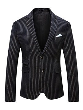 Lurex Notched Lapel Casual Single-Breasted Men's Leisure Blazers