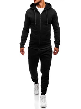Hoodie Casual Plain Pocket Men's Outfit