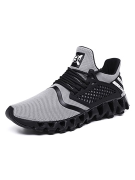 Low-Cut Upper Lace-Up Sports Round Toe Running Shoes