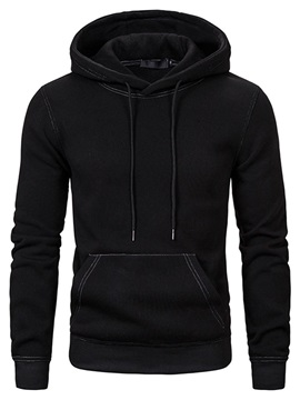 Plain Pullover Pocket Casual Men's Hoodies