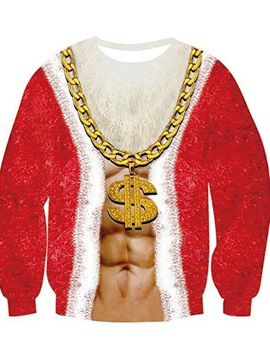 Thick Pullover Print Christmas Loose Men's Hoodies