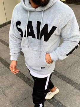 Pocket Thick Letter Casual Men's Hoodies