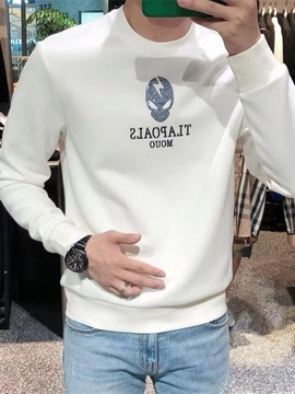 Pullover Thick Letter Print Casual Men's Hoodies