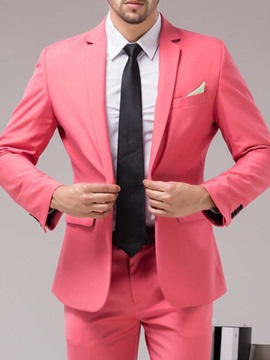One Button Formal Vest Men's Dress Suit