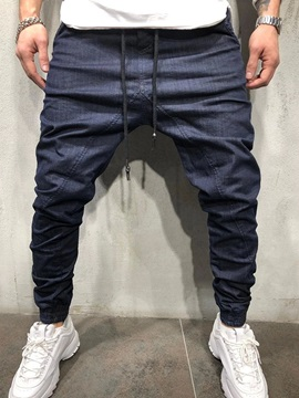 Pleated Pencil Pants Casual Men's Jeans