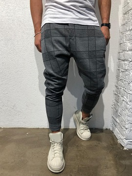 Print Plaid Summer Men's Casual Pants