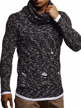 Standard Heap Collar Hole Fall Men's Sweater