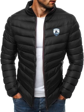 Standard Stand Collar Appliques Casual Men's Down Jacket