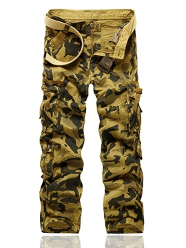 Print Straight Camouflage Four Seasons Men's Casual Pants