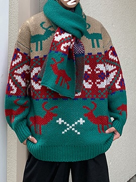 Christmas Mid-Length Loose Men's Sweater
