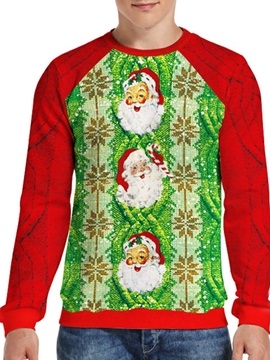 Christmas Pullover Print Slim Men's Hoodies