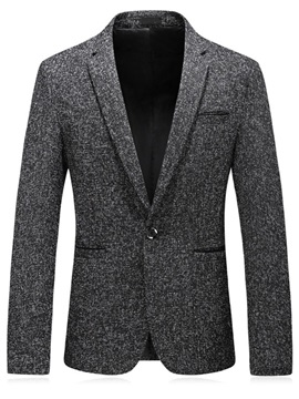 One Button Slim Notched Lapel Korean Men's Blazer
