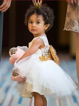 Glamour Big-Bow Decorated Baby's Dress