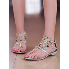 New Bohemia Style with Colored Crystal Sandals