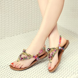New Bohemia Style Colored Beads Women's Sandals
