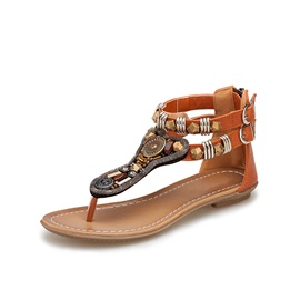 Vintage Bohemia Style with Rivets Flat Sandals