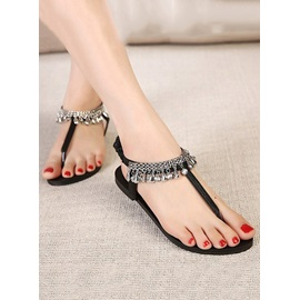 Cool Rhinestone Thong Flat Sandals