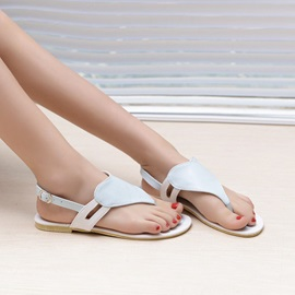 Sweet PU Thong Flat Sandals