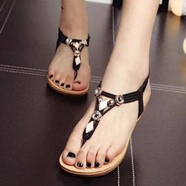 Cozy PU Thong Driving Sandals