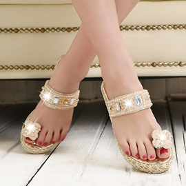 Buy Sweet Beaded Ring-Toe Beach Sandals