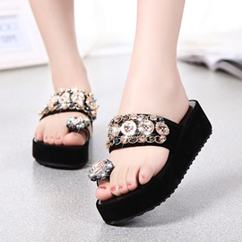 Buy Beaded Ring-Toe Slip-On Beach Sandals