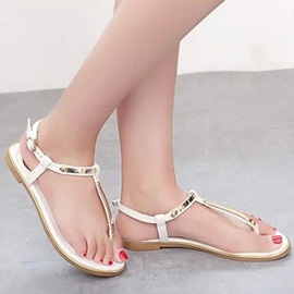 Simple Style Sequins Thong Beach Sandals