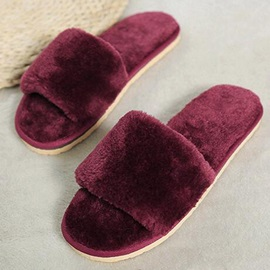 Cotton Slip-On Flat Women's Slippers
