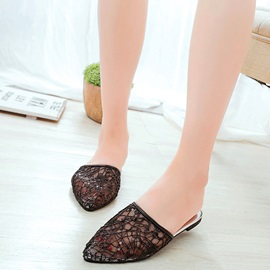 Mesh Slip-On Closed Toe Women's Slide Sandals