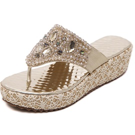 PU Thong Bling Slip-On Bling Sandals