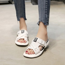 Buckle Slip-On Women's Casual Slippers