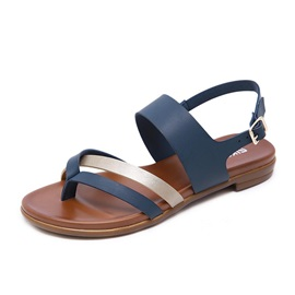 Slingback Strap Thong Buckle Casual Flat Sandals