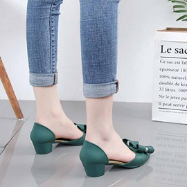 Pointed Toe Bow Slip-On Casual Jelly Sandals