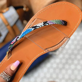 Thong Serpentine Slip-On Casual Slippers